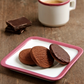 Mini frollini shortbread doppio cioccolato - Mini palets double chocolat
